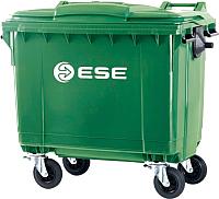 Контейнер для мусора Ese 660л с крышкой (зеленый) -