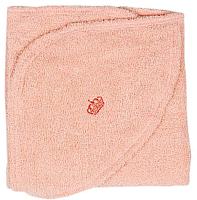 Полотенце с капюшоном Alis Махровое 110x80 (персиковый) -