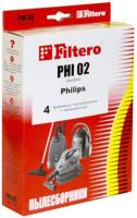 Комплект пылесборников для пылесоса Filtero Standard PHI 02 (4шт) -