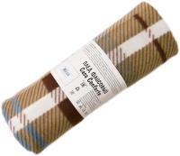 Плед Belezza Мадрас 140x200 (флис, коричневый) -