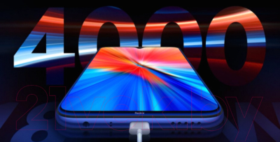 Смартфон Xiaomi Redmi Note 8 2021 4GB/64GB (белый)