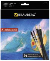 Набор акварельных карандашей Brauberg Artist Line / 180570 (24цв) -