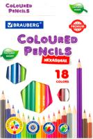Набор цветных карандашей Brauberg Premium / 181657 (18цв) -