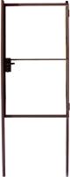Калитка КомфортПром 1200x1000 (коричневый, 2 столба) -