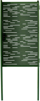 Калитка КомфортПром Модерн 1030x1000 / 11020121 (зеленый, 2 столба) -
