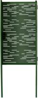 Калитка КомфортПром Модерн 1730х1000 / 11020123 (зеленый, 2 столба) -