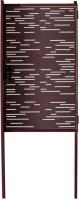 Калитка КомфортПром Модерн 1730x1000 / 11020126 (коричневый, 2 столба) -