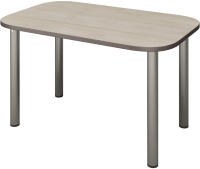 Обеденный стол Senira Р-001-01 (дуб выбеленный/хром) -