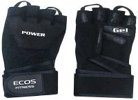 Перчатки для пауэрлифтинга ECOS SB-16-1057 / 005333 (S, черный) -