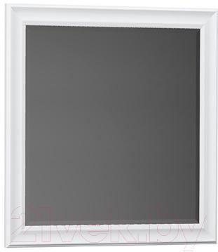 Купить Зеркало для ванной Belux, Женева В80 (1, белый), Беларусь
