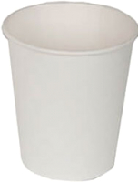 Набор бумажных стаканов Krafteco Белый (50x100мл) -