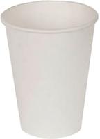 Набор бумажных стаканов Krafteco Белый (50x250мл) -