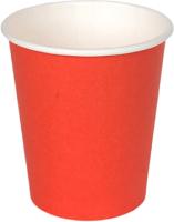 Набор бумажных стаканов Krafteco Красный (50x250мл) -