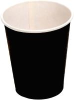 Набор бумажных стаканов Krafteco Черный (50x250мл) -