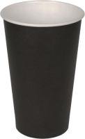 Набор бумажных стаканов Krafteco Черный (50x400мл) -