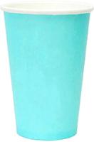 Набор бумажных стаканов Krafteco Бирюзовый (50x250мл) -