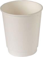 Набор бумажных стаканов Krafteco Двухслойный (20x250мл, белый) -