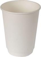 Набор бумажных стаканов Krafteco Двухслойный (20x300мл, белый) -