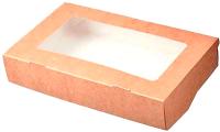Набор коробок упаковочных для еды Krafteco Eco Tabox 300 с окном (50шт) -