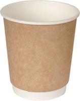 Набор бумажных стаканов Krafteco Крафт двухслойный (20x250мл) -