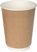 Набор бумажных стаканов Krafteco Крафт двухслойный (20x300мл) -