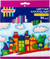 Набор цветных карандашей Пифагор Сказочный город / 181585 (24шт) -