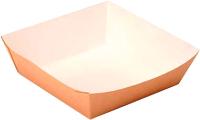 Набор биоразлагаемых лотков Krafteco Для фаст-фуда с ламинацией / Eco Tray 550 (100шт) -