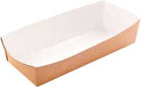 Набор биоразлагаемых лотков Krafteco Eco Tray 800 для фаст-фуда с ламинацией (100шт) -