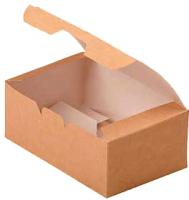 Набор коробок упаковочных для еды Krafteco Eco Fast Food Box L (25шт) -