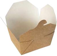 Набор коробок упаковочных для еды Krafteco Eco Fold Box 600 (50шт) -