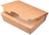 Набор коробок упаковочных для еды Krafteco Eco Lunch 600 (50шт) -
