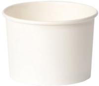 Набор бумажных креманок Krafteco 380мл (50шт, белый) -