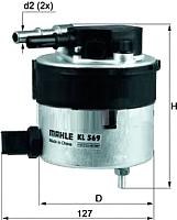 Топливный фильтр Knecht/Mahle KL569 -