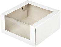 Набор коробок упаковочных для еды Krafteco Мусс 235x235x115мм (10шт, белый) -