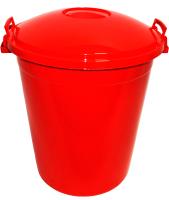 Бак пластиковый Эльфпласт Антей с крышкой / ЕР254 (70л, красный) -