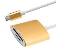 Адаптер Atom USB Type-C 3.1 - MicroSD/TF (золотой) -