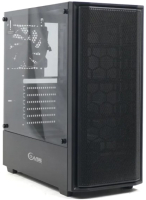 Корпус для компьютера Powercase Alisio Mesh M Black Tempered Glass (без БП) -