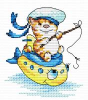 Набор для вышивания М.П.Студия Морячок / М-045м -