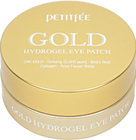 Патчи под глаза Petitfee Гидрогелевые с 24-каратным коллоидным золотом (60x1.4г) -