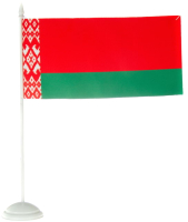Флаг Флаг Республики Беларусь настольный на однорожковой подставке (10x20см) -