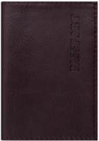 Обложка на паспорт Brauberg Virginia / 237187 (бордовый) -