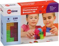 Игра-головоломка On Time Магнитные фигуры 3D / 45019 (9эл) -