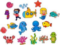 Набор стикеров для ванной Жирафики Океан / 939616 -