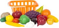 Набор игрушечных продуктов Стром Фрукты и овощи в корзине / у758 -