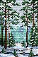 Набор для вышивания М.П.Студия Сказка зимнего леса / М-001М -