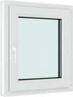 Окно ПВХ Brusbox Elementis Kale Одностворчатое Поворотно-откидное правое 3 стекла (600x600x70) -
