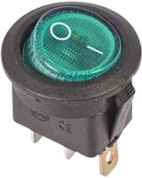 Выключатель клавишный Rexant ON-OFF 36-2573 (зеленый) -