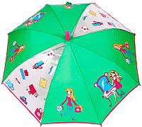 Зонт-трость Капелюш D-6 (зеленый/серый) -