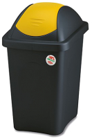 Контейнер для мусора Stefanplast 30л / 70211 (черный/желтый) -