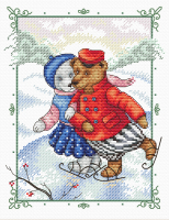 Набор для вышивания М.П.Студия Танцы на льду / М-189М -